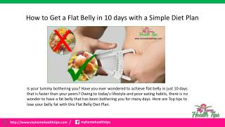 The best diet plan for a flat belly with in 10 days