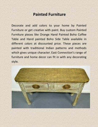 Solid Wooden Painted Furniture