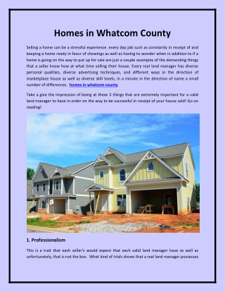 homes in whatcom county
