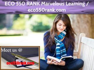 ECO 550 RANK Marvelous Learning / eco550rank.com