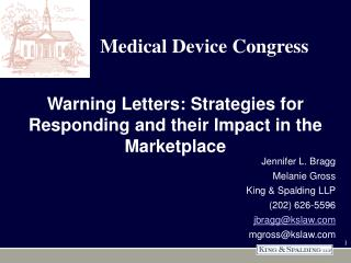 Warning Letters: Strategies for Responding and their Impact in the Marketplace
