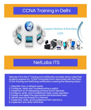 Join e-learning classes for CCNA Training in Delhi | Netlabs ITS
