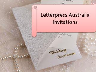 Letterpress Australia Invitations