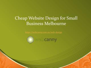 Affordable Website Design Melbourne for Small Business