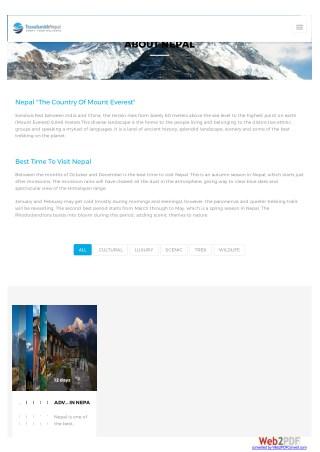 Luxury and Adventure trip to Nepal, Bhutan, Tibet
