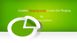 Sudden Hearing loss Ringing in one Ear
