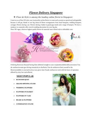 Flower Delivery Singapore - fleurdestyle.com.sg