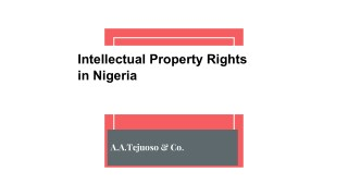 Intellectual Property Rights in Nigeria