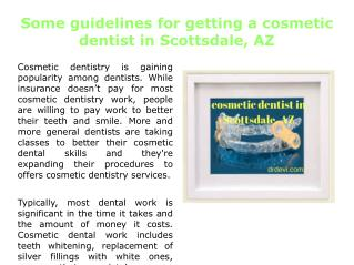 Cosmetic Dentist in Scottsdale, AZ