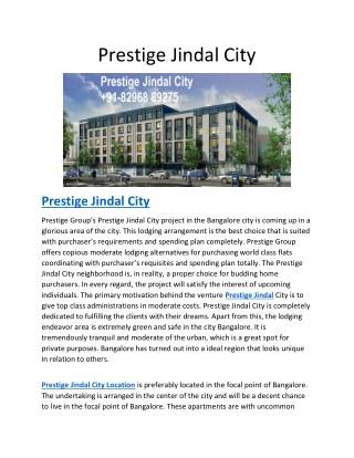 Prestige Jindal City | Property | Pre Launch | Reviews