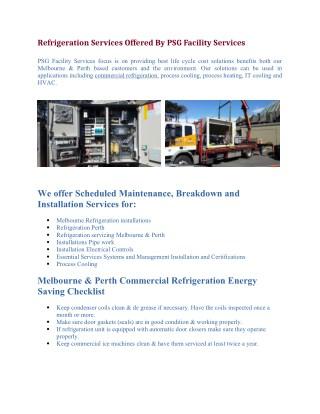 Industrial Refrigeration Installation - PSG Facility