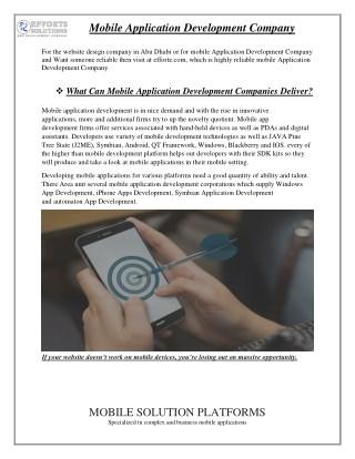 Mobile Application Development Company - effortz.com