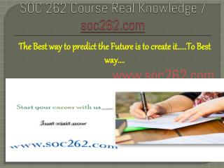 SOC 262 Course Real Knowledge / soc262.com