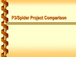 Spider Project Introduction