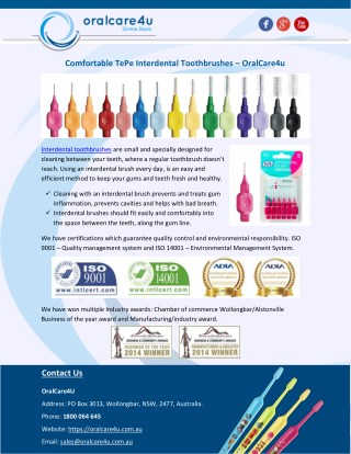 Comfortable TePe Interdental Toothbrushes – OralCare4u