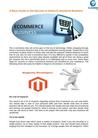 Use Some Basic Tips for Online E-commerce Business