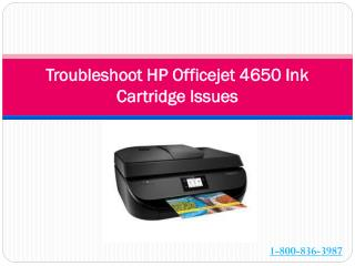 Troubleshoot HP Officejet 4650 Ink Cartridge Issues