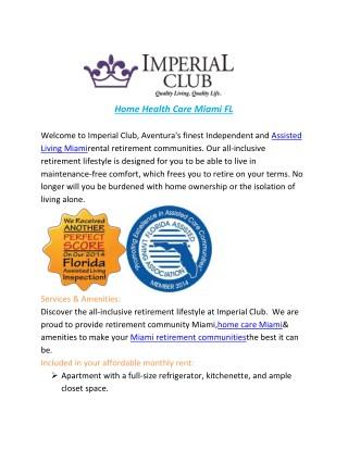Home Health Care Miami FL