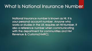 What Is A National Insurance Number? | DNS Accountants