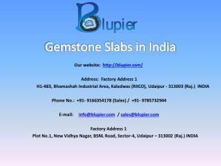 Gemstone Slabs in India
