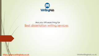 The Best Dissertation Writing services in UK