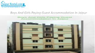 Boys And Girls Paying Guest Accommodation In Jaipur