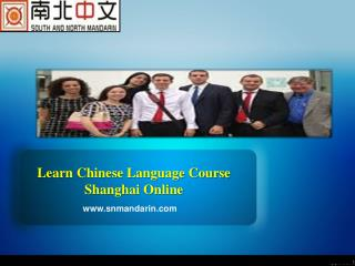Learn Chinese Language Course Shanghai Online