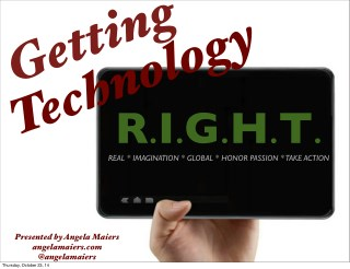 Getting technology r.i.g.h.t