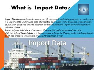 Find Import Data for international trade businesses