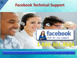 Is Facebook Technical Support 1-850-361-8504 the first aid for Facebook users?