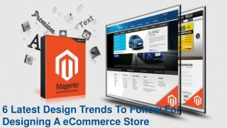 6 Latest Design Trends To Follow For Designing A eCommerce Store
