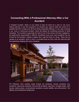 Connecting With a Professional Attorney After a Car Accident