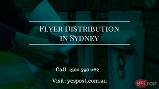 Cost Effective Flyer Distribution in Sydney