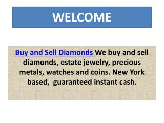 Buy and Sell Diamonds