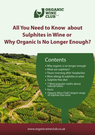 Brief about Sulphites in Wine and Wine Allergy - Organic Wine Club UK