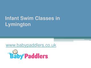 Infant Swim Classes in Lymington - www.babypaddlers.co.uk
