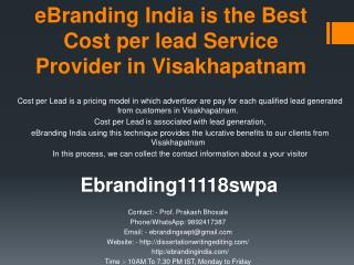 eBranding India is the Best Cost per lead Service Provider in Visakhapatnam