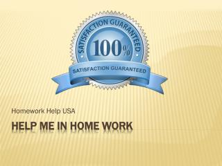 Help Me In Home Work USA