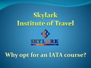 Why opt for an IATA course?