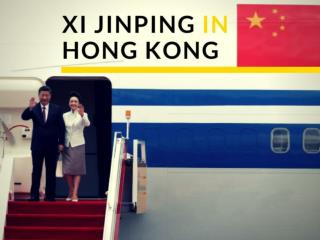 China President Xi Jinping arrives in Hong Kong