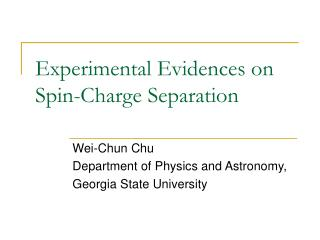 Experimental Evidences on Spin-Charge Separation