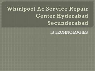 Whirlpool Ac Service Repair Center Hyderabad Secunderabad