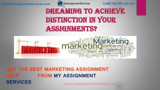 Get Best Marketing Assignment by Experts in Australia