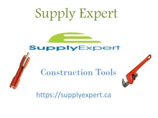 Construction Tools Supplier in Canada