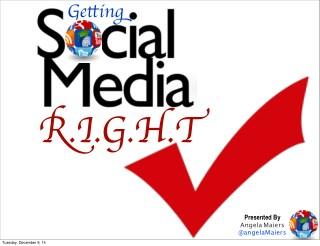 Getting Social Media R.I.G.H.T.