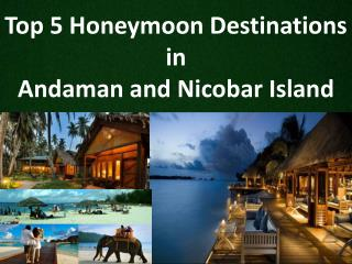 Top 5 Honeymoon Destinations in Andaman and Nicobar Island