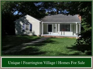 Unique | Fearrington Village | Homes For Sale