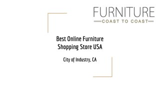 Call 626 968-9989 coast to coast online furniture usa