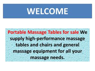 Portable Massage Tables for sale