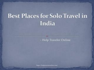 Best Places for Solo Travel in India